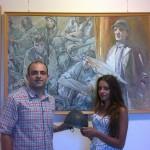 Un nuovo cimelio per la pinacoteca comunale: donato l'elmetto che salvò la vita a Donatello Stefanucci durante la prima guerra mondiale