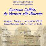 Gaetano Callido, da Venezia alle Marche - Giornata di Studi